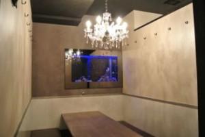 飲食店様 個室に合わせた個性豊かな水槽